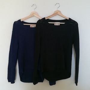 Ambiance sweaters both medium black and navy